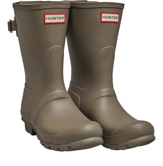 Hunter Womens Back Adjustment Short Wellington Boots Chorus