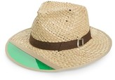 Brixton Men's Hunter Straw Fedora - Brown