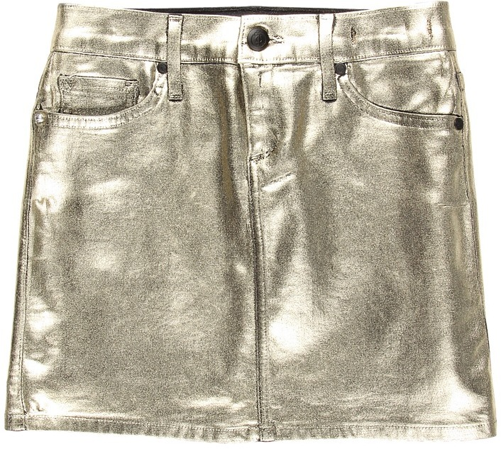 Juicy Couture Foil Coated Mini Skirt (Toddler/Little Kids/Big Kids) (Mina Wash) - Apparel