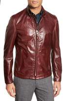 Schott NYC 'Casual Cafe Racer' Slim Fit Leather Jacket