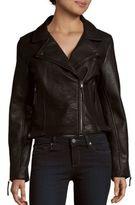 Romeo & Juliet Couture Notch Collar Asymmetric Zipper Jacket