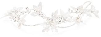 Jon Richard Jewellery Silver, Cross, Over, Brushed, Leaf, Gloria, Tiara