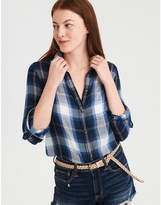 American Eagle AE Plaid Boyfriend Shirt