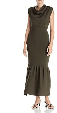 3.1 Phillip Lim Cowl Neck Flounce Dress