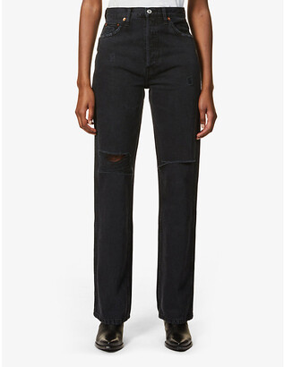 RE/DONE Ripped loose high-rise jeans