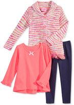 Nannette Nanette 3-Pc. Sweater, T-Shirt & Leggings Set, Toddler Girls (2T-5T) & Little Girls (2-6X)