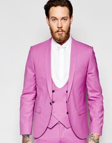 Noose & Monkey Suit Jacket With Shawl Lapel In Super Skinny Fit