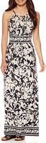 London Times London Style Collection Sleeveless Floral Print Maxi Dress