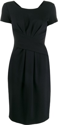 Emporio Armani Short Gathered Detail Dress