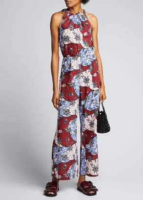 Warm Fernanda Printed Sleeveless Jumpsuit