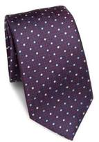 Saks Fifth Avenue COLLECTION Connecting Dot Print Silk Tie