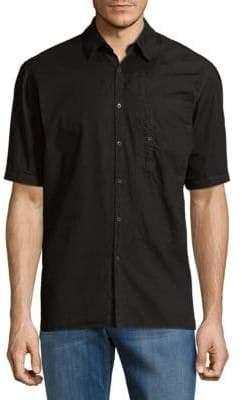 Dries Van Noten Short-Sleeve Cotton Button-Down Shirt