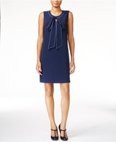 Maison Jules Bow-Detail Shift Dress, Only at Macy's