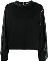 No.21 glass-embellished crew-neck top
