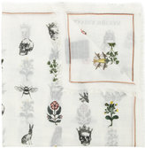 Alexander McQueen skull forest print scarf