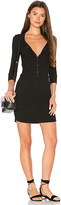 David Lerner Henley Tee Dress in Black. - size S (also in )