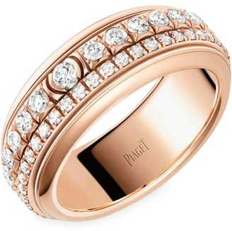 Piaget Possession 18K Rose Gold & Diamond Two-Band Ring