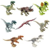 (Ferris wheel TH) 8Pcs Jurassic Dinosaur Building Blocks Sets Brand New