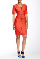 NUE by Shani Contrast Piping Pleated Dress