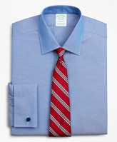 Brooks Brothers Stretch Milano Slim Fit Dress Shirt, Non-Iron Pinpoint Ainsley Collar French Cuff