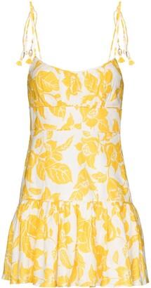 Zimmermann Bells ruffled floral-print mini dress