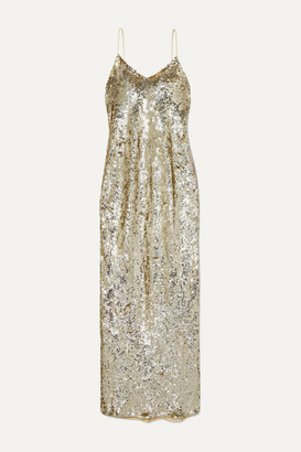 Nili Lotan Sequined Chiffon Gown - Silver