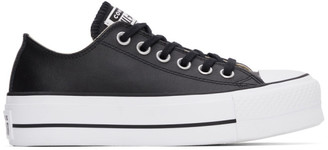 Converse Black Leather Chuck Taylor All Start Lift Low Sneakers