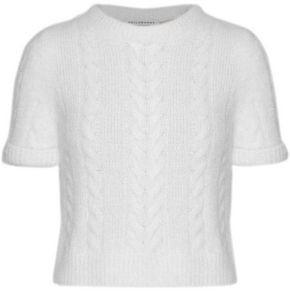 Philosophy di Lorenzo Serafini Metallic Brushed Cable-knit Sweater