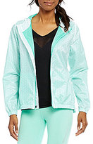 Nanette Lepore Lasercut Packable Windbreaker