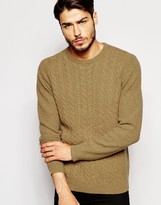 Asos Lambswool Rich Cable Knit Sweater