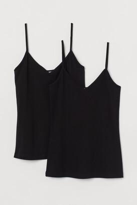 H&M 2-pack V-neck Tank Tops