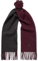 Polo Ralph Lauren Reversible Virgin Wool-blend Scarf - Burgundy