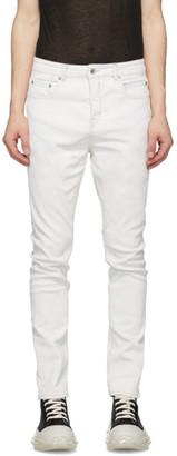 Rick Owens White Detroit Cut Jeans