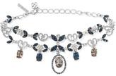 Oscar de la Renta Silver-plated Crystal Necklace - one size
