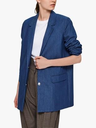 Selected Denim Blazer, Blue