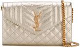 Saint Laurent Monogram chain wallet - women - Leather - One Size