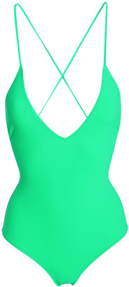 Emma Pake Antonia Lace-up Neon Swimsuit
