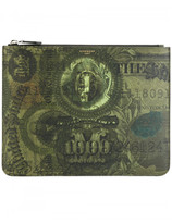 Givenchy dollar print zip pouch
