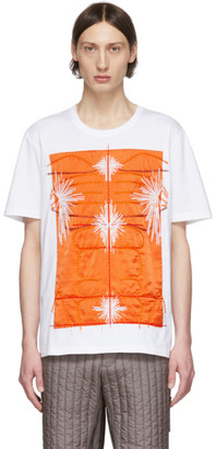 Craig Green SSENSE Exclusive White and Orange Embroidered Body T-Shirt