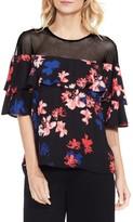 Vince Camuto Women's Ballard Floral Babydoll Blouse