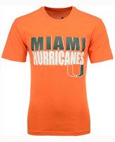 Colosseum Men's Miami Hurricanes Wordmark Stack T-Shirt