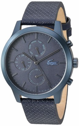 Lacoste Blue pvd Quartz Watch with Leather Strap 20 (Model: 2010998)
