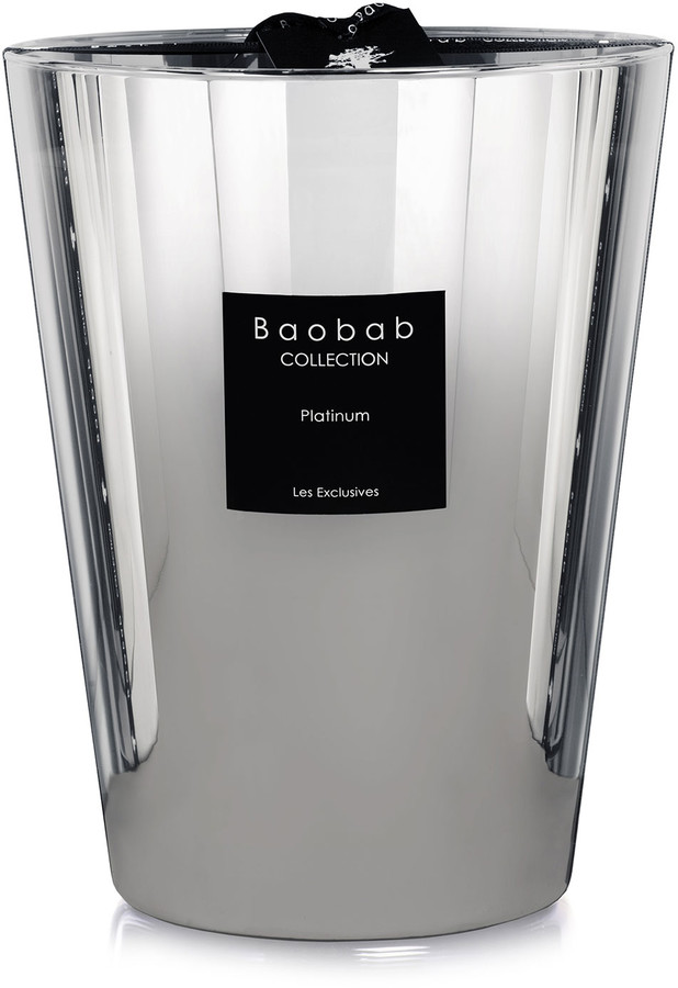 """Baobab Collection Platinum Scented Candle, 9.4"""""""