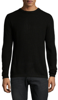 Autumn Cashmere Thermal Cashmere Suede Patched Sweater