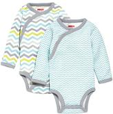 Skip Hop Blue & Gray Starry Chevron Bodysuit Set
