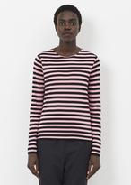 Comme des Garcons black pink stripe crew neck sweater