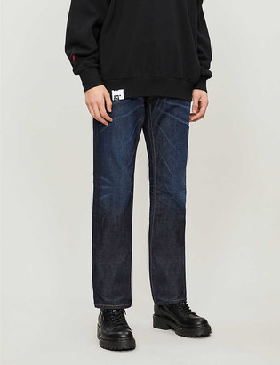 Diesel Larkee regular-fit faded straight-leg jeans