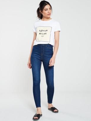 Very Charley Side Zip Skinny Jean - Dark Wash