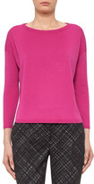 Akris Punto Bateau-Neck Bracelet-Sleeve Sweater, Pink