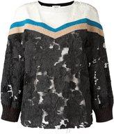 Aviu embroidered floral panel jumper